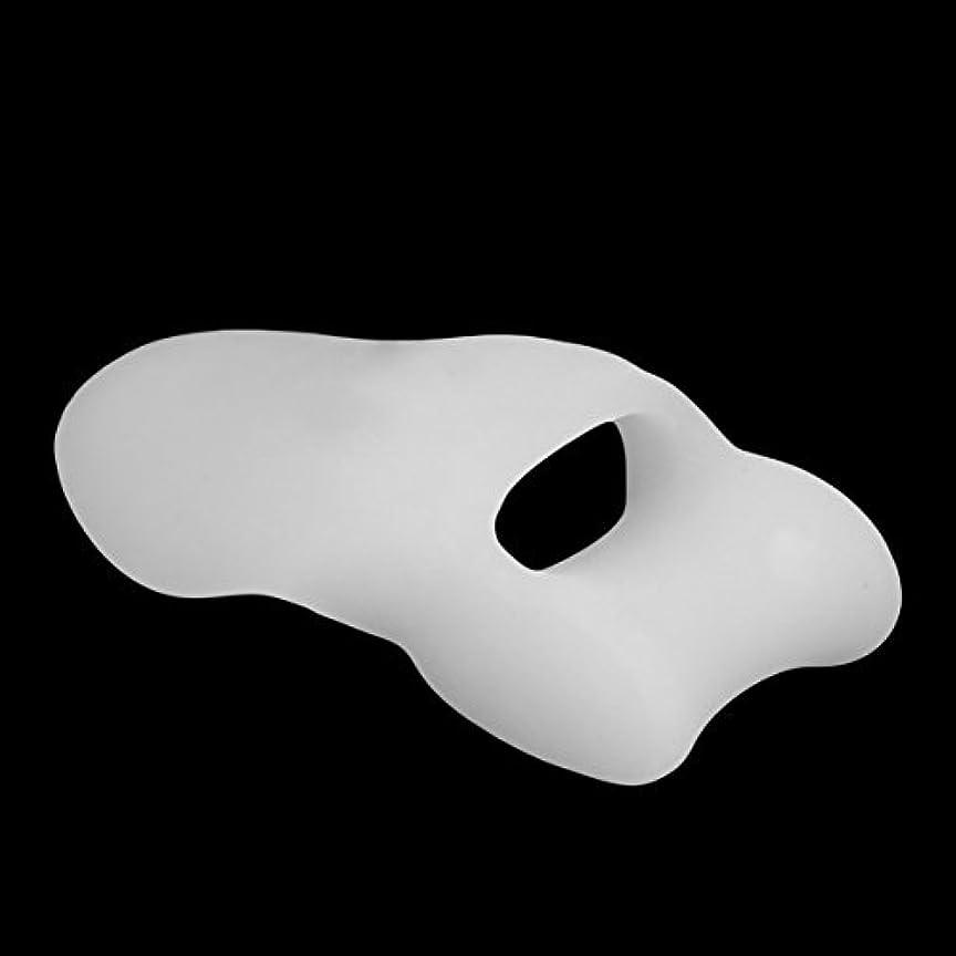 価値のない広々確率White Soft Gel Toe Separators Stretchers Straighteners Alignment Bunion Valgus Protector Thumb Pain Relief