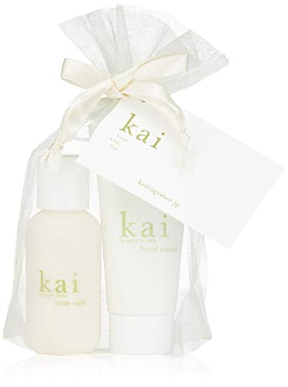 補う祭司余分なkai fragrance(カイ フレグランス) ハンドクリーム&ミニボディウォッシュ 59×2ml