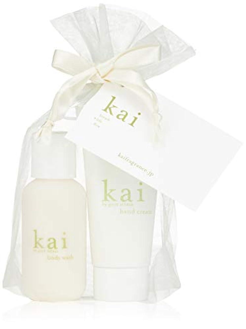 虫電池控えるkai fragrance(カイ フレグランス) ハンドクリーム&ミニボディウォッシュ 59×2ml