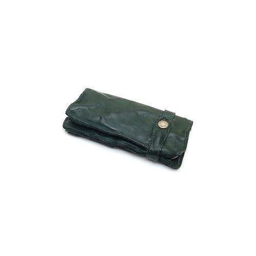 MR.OLIVE(ミスターオリーブ) ME102-GR グリーン レザーウォレット/ロング/ウォッシュレザー/シワ加工/牛革 長財布