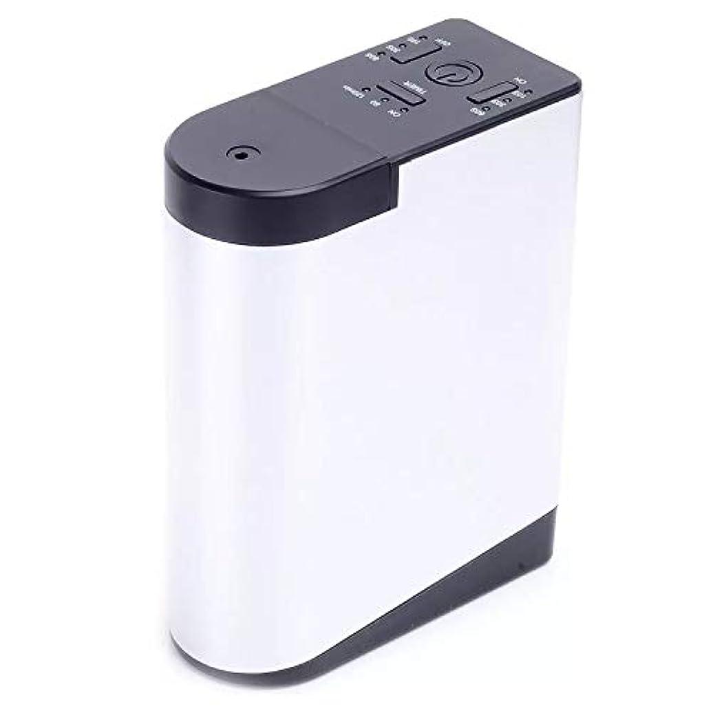 リブオーバーコート正当なアロママシンを持って充電拡香器アロマディフューザー メモリー?タイマー機能 ネブライザー式 精油瓶スポイト付き T11-EN098
