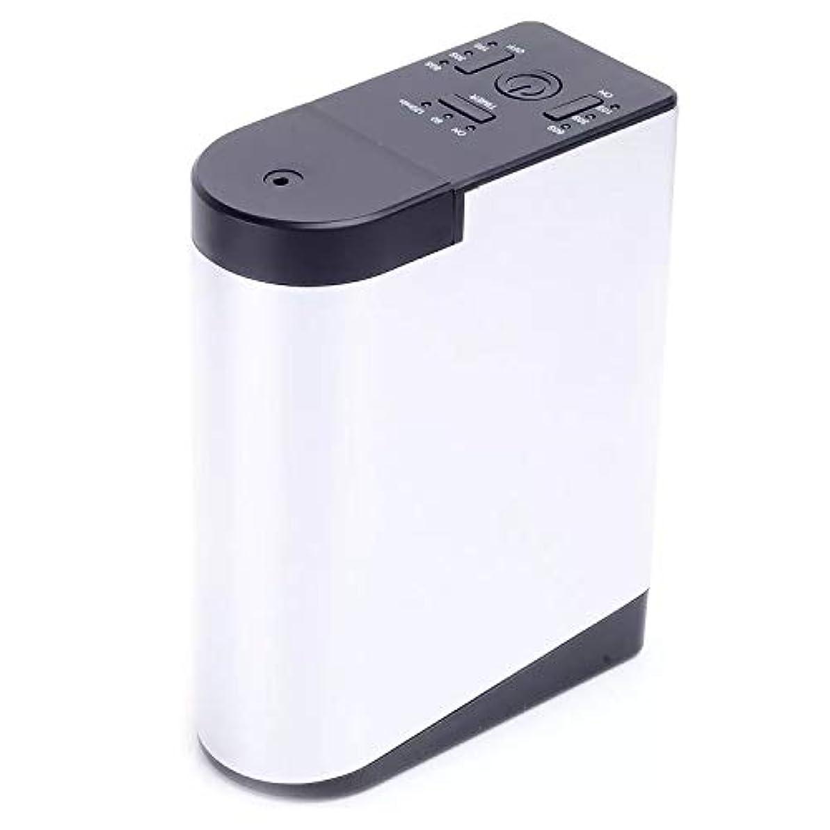 堂々たる浸す期待するアロママシンを持って充電拡香器アロマディフューザー メモリー?タイマー機能 ネブライザー式 精油瓶スポイト付き T11-EN098