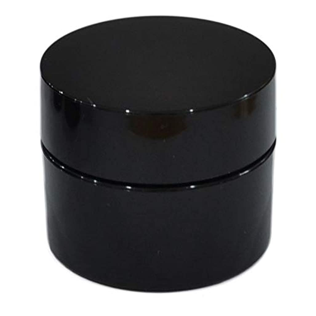 ホース連隊団結純国産ネイルジェル用コンテナ 10g用GA10g 漏れ防止パッキン&ブラシプレート付容器 ジェルを無駄なく使える底面傾斜あり 遮光 黒 ブラック