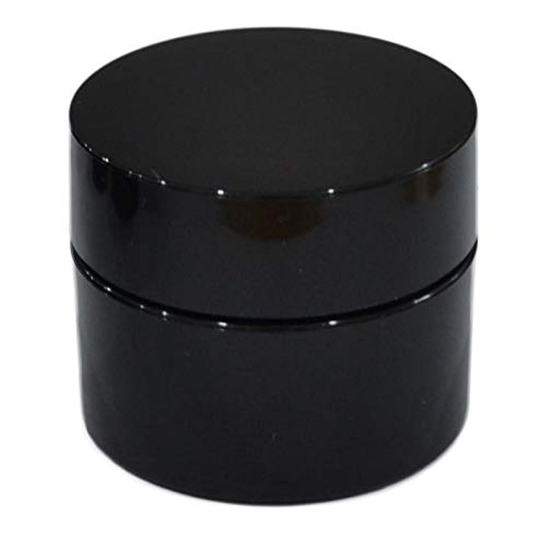 嵐努力する魔術純国産ネイルジェル用コンテナ 10g用GA10g 漏れ防止パッキン&ブラシプレート付容器 ジェルを無駄なく使える底面傾斜あり 遮光 黒 ブラック