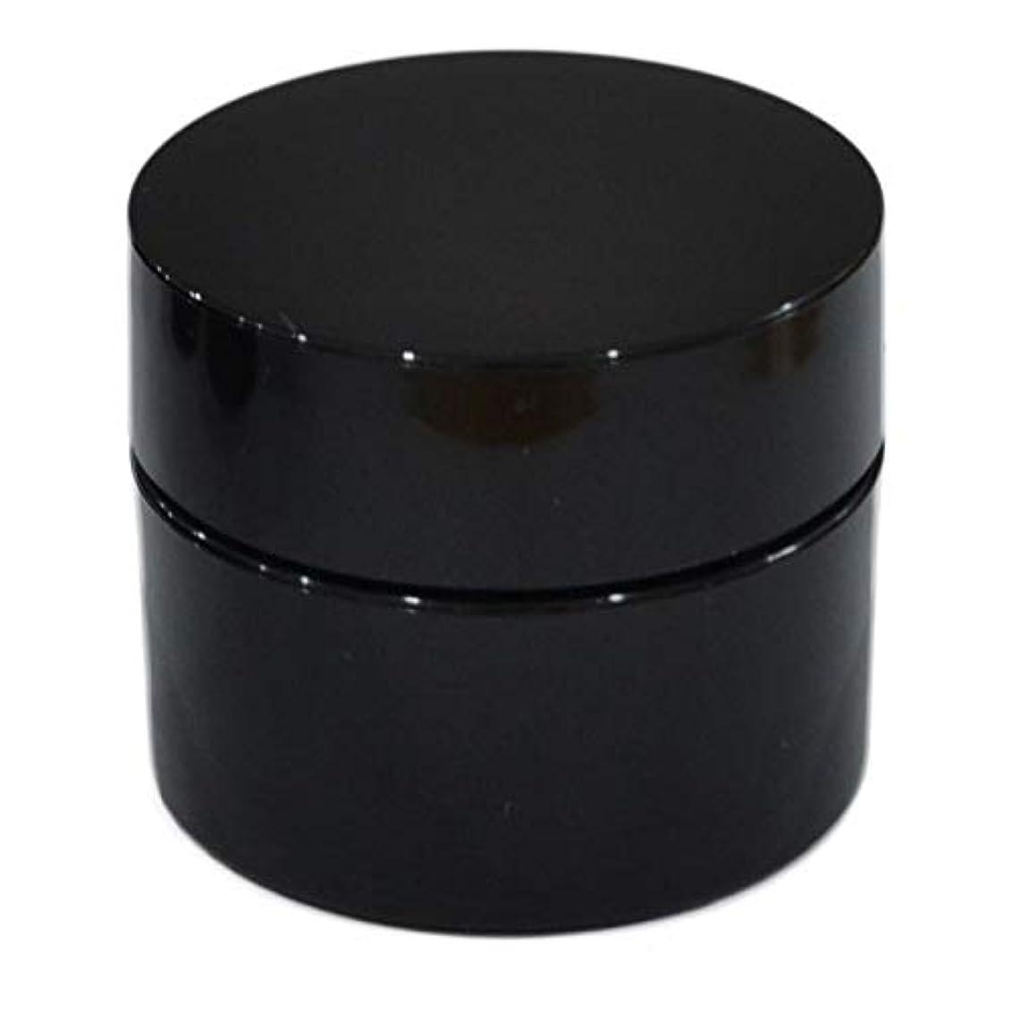 明日遅滞言い直す純国産ネイルジェル用コンテナ 10g用GA10g 漏れ防止パッキン&ブラシプレート付容器 ジェルを無駄なく使える底面傾斜あり 遮光 黒 ブラック