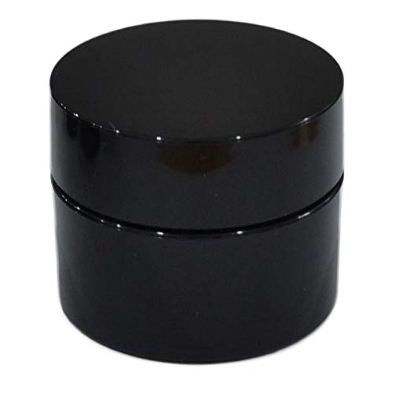 結核旅植物学者純国産ネイルジェル用コンテナ 10g用GA10g 漏れ防止パッキン&ブラシプレート付容器 ジェルを無駄なく使える底面傾斜あり 遮光 黒 ブラック
