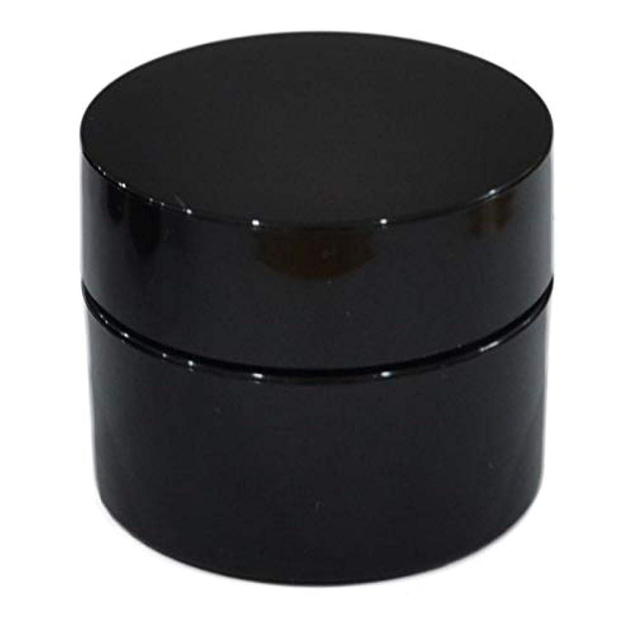 軽有益な養う純国産ネイルジェル用コンテナ 10g用GA10g 漏れ防止パッキン&ブラシプレート付容器 ジェルを無駄なく使える底面傾斜あり 遮光 黒 ブラック