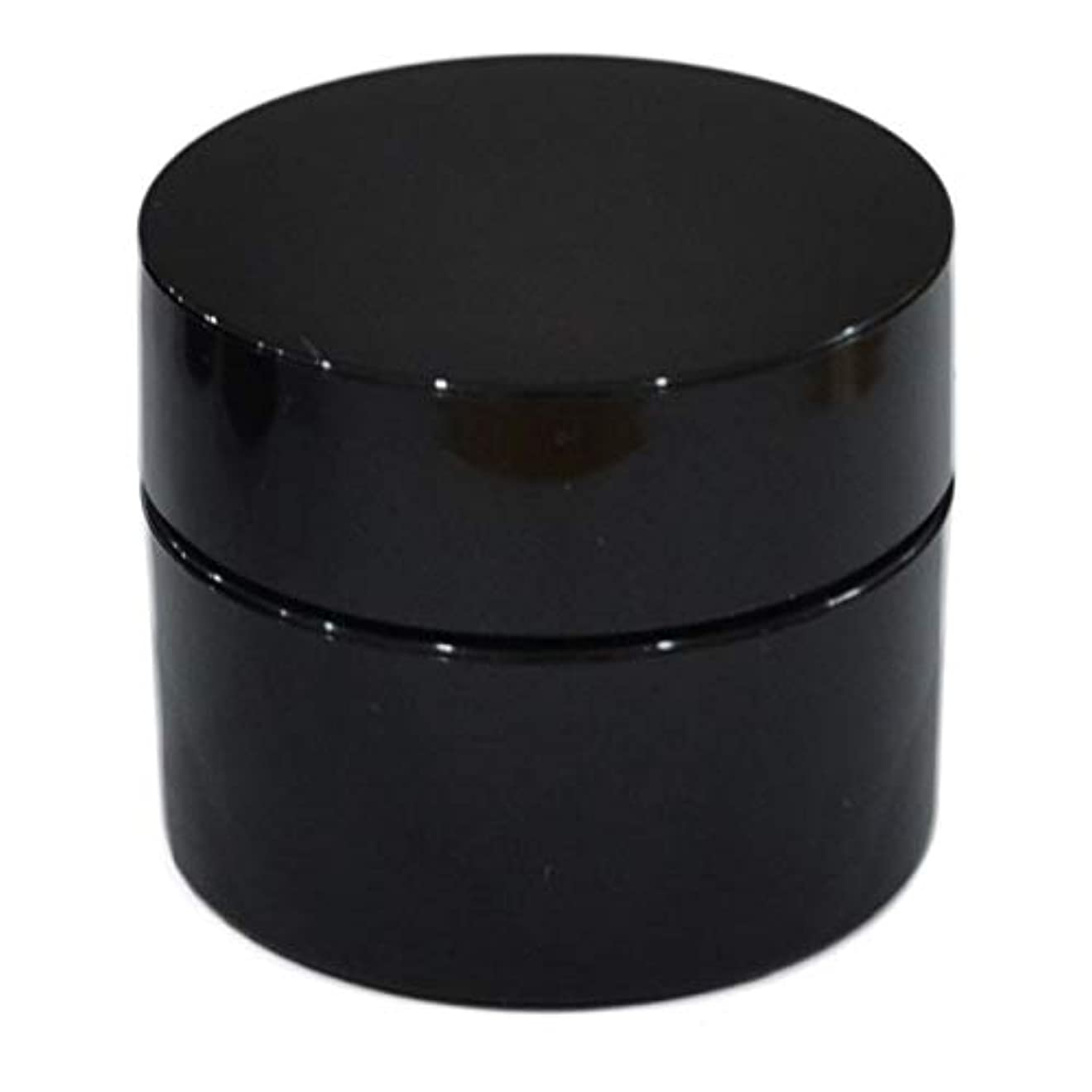 抑圧する早めるミケランジェロ純国産ネイルジェル用コンテナ 10g用GA10g 漏れ防止パッキン&ブラシプレート付容器 ジェルを無駄なく使える底面傾斜あり 遮光 黒 ブラック
