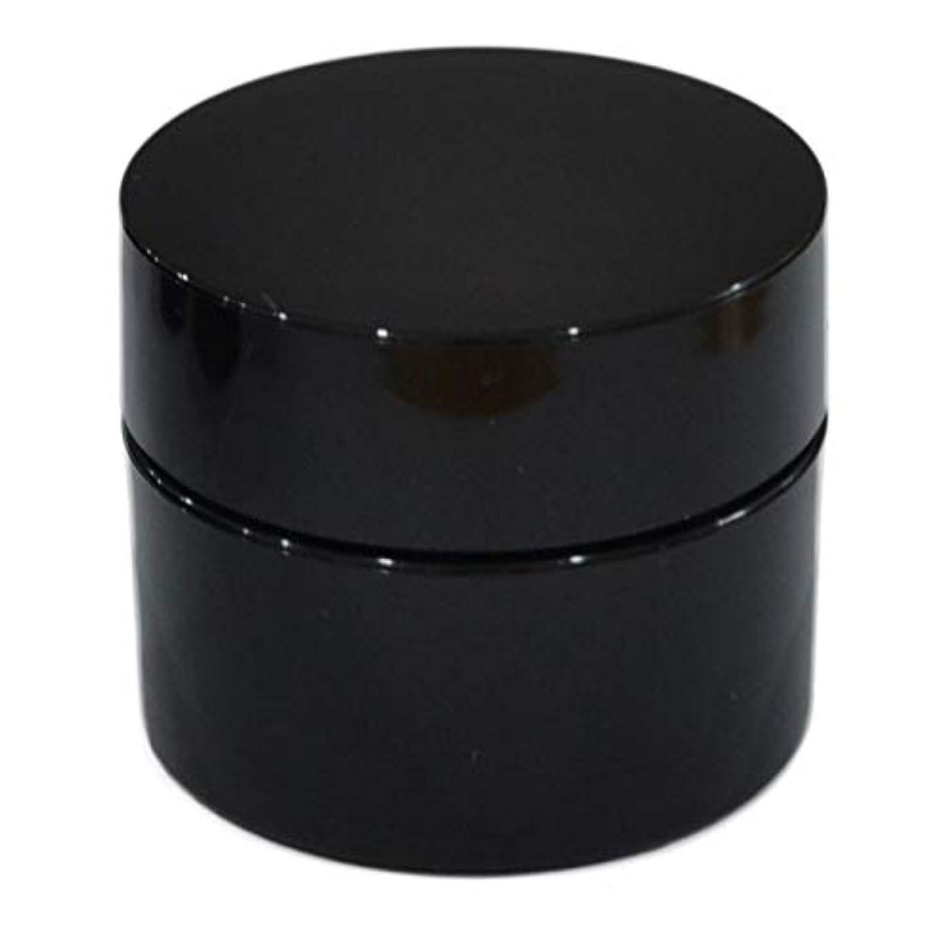 自然公園繁雑登場純国産ネイルジェル用コンテナ 10g用GA10g 漏れ防止パッキン&ブラシプレート付容器 ジェルを無駄なく使える底面傾斜あり 遮光 黒 ブラック