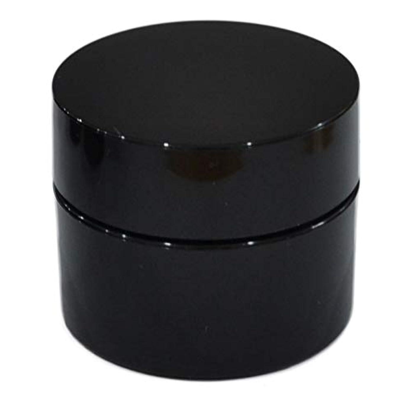刈り取る討論成長する純国産ネイルジェル用コンテナ 10g用GA10g 漏れ防止パッキン&ブラシプレート付容器 ジェルを無駄なく使える底面傾斜あり 遮光 黒 ブラック