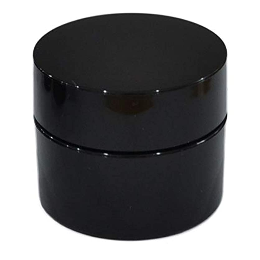 優勢電圧またね純国産ネイルジェル用コンテナ 10g用GA10g 漏れ防止パッキン&ブラシプレート付容器 ジェルを無駄なく使える底面傾斜あり 遮光 黒 ブラック