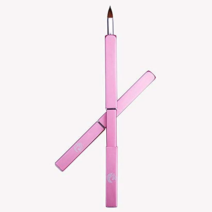 常習者弾性飲み込むENERGY メイクブラシ リップブラシ スライド式 ポータブル(ピンク)