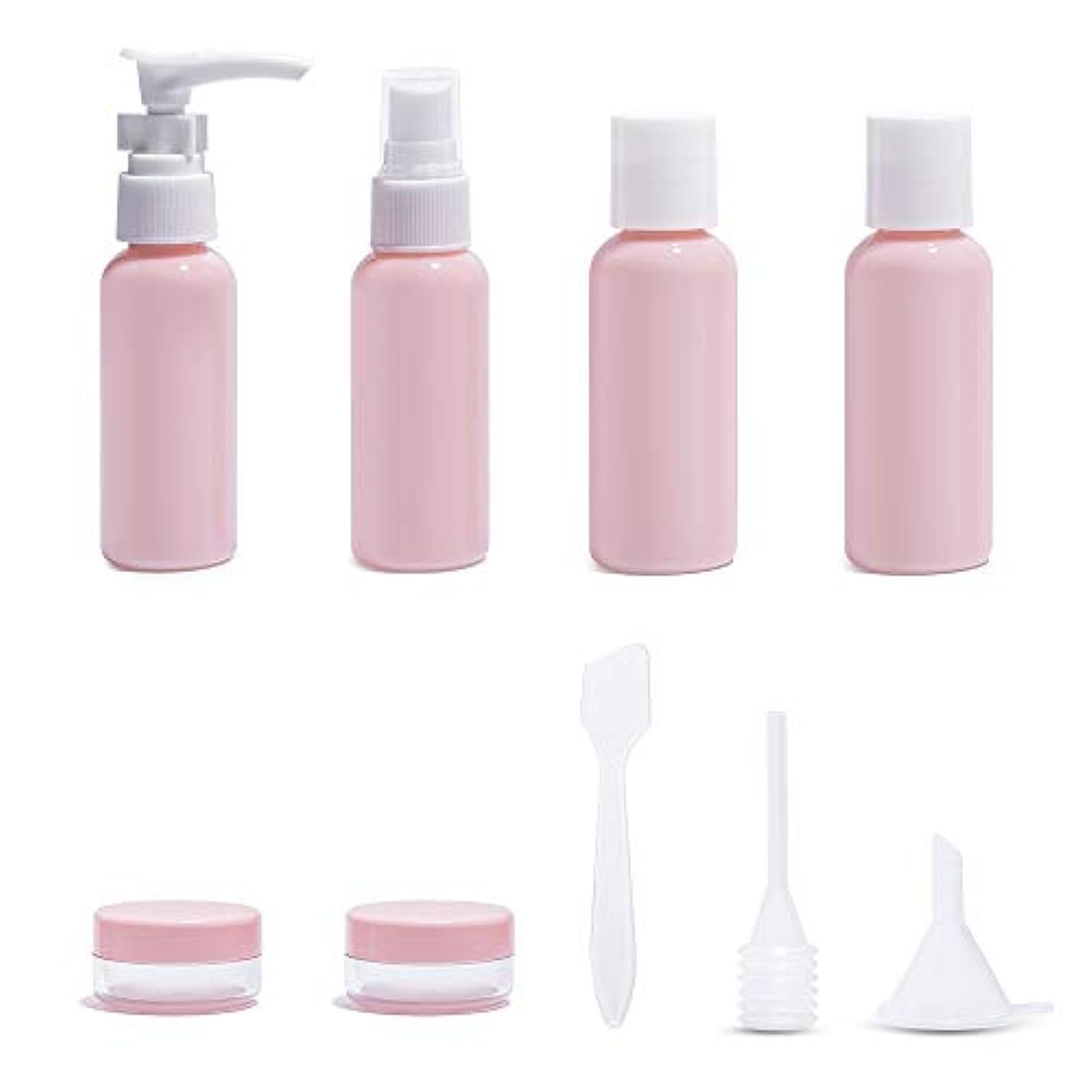 Diolan トラベルボトル 小分けボトル コスメ用詰替え容器 6本セット ピンク 旅行 出張