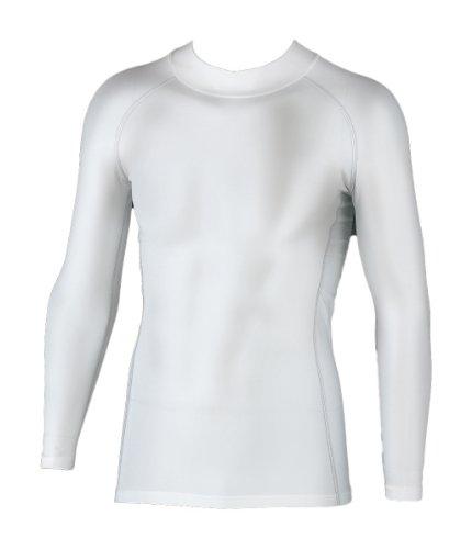 おたふく手袋 ボディータフネス 保温 コンプレッション パワーストレッチ 長袖 ハイネックシャツ JW-170 ホワイト M