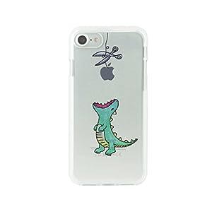 Dparks iPhone 8 ケース/iPhone 7 ケース ソフトクリアケース はらぺこザウルス グリーン アイフォン カバー【日本正規代理店品】