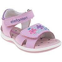 elefanten Girls - Toddler Floral Fancy Open Toe Sandals Strap Fully Adjusable