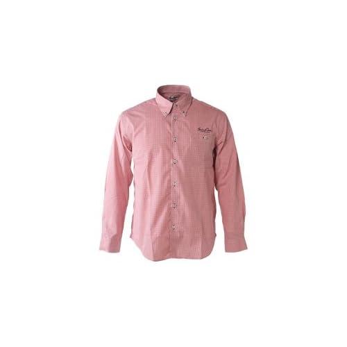 (シナコバ) SINA COVA ボタンダウンシャツ レッド系 Lサイズ
