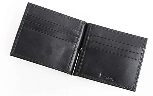 [Boosters] ブースターズ マネークリップ 革 二つ折り 札ばさみ カードケース 財布 ブラック