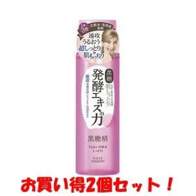 巨大クラッシュ従う(2017年の新商品)(コーセーコスメポート)黒糖精 うるおい化粧水 しっとり 180ml(お買い得2個セット)