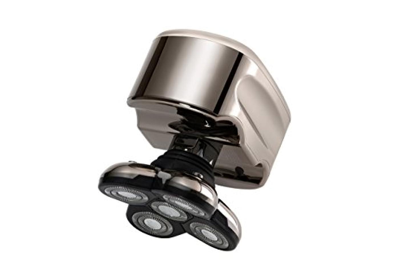 差し引くピニオンレンズSkull Shaver (スカルシェーバー) メンズシェーバー 5つの回転刃の 電動シェーバー (白金)