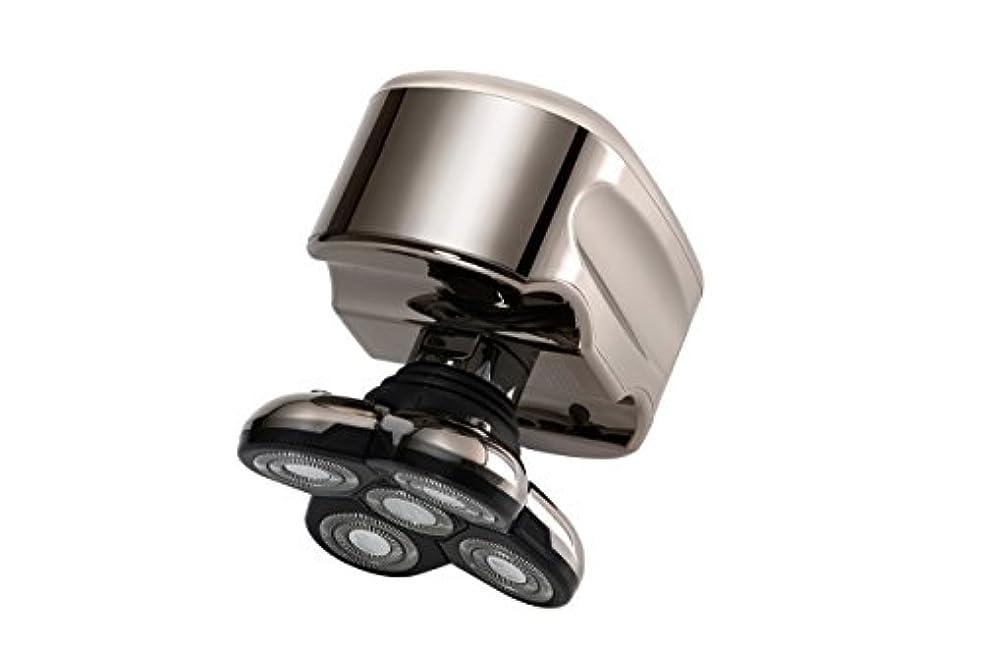 一杯の中で機関Skull Shaver (スカルシェーバー) メンズシェーバー 5つの回転刃の 電動シェーバー (白金)