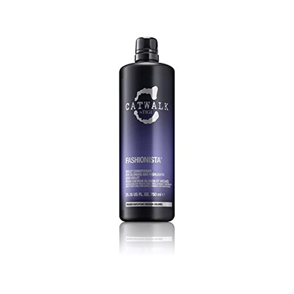 部屋を掃除する更新する降雨Tigi Catwalk Fashionista Violet Conditioner (750ml) (Pack of 6) - ティジーキャットウォークファッショバイオレットコンディショナー(750ミリリットル) x6 [並行輸入品]