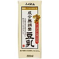 ふくれん 九州産ふくゆたか大豆 成分無調整豆乳200ml紙パック×24本入×(2ケース)