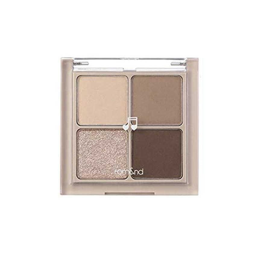 肖像画そうグレーrom&nd BETTER THAN EYES Eyeshadow Palette 4色のアイシャドウパレット # M2 DRY buckwheat flower(並行輸入品)