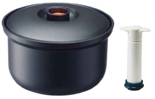 スケーター 真空 おひつ 3合用 ポンプ付 米保存容器 日本製 BOH3