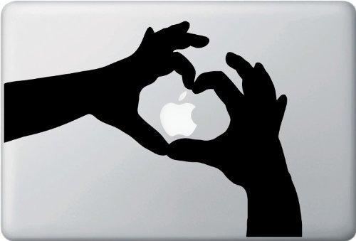 MacBook ステッカー シール Heart Hands ...
