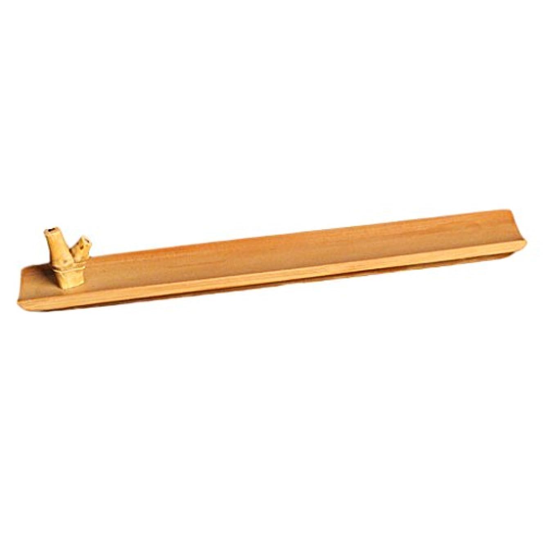 放射能調整する悲劇的な竹 お香立て スティック 香 ホルダー バーナースティック ブラウン 手作り 工芸品 24センチメートル
