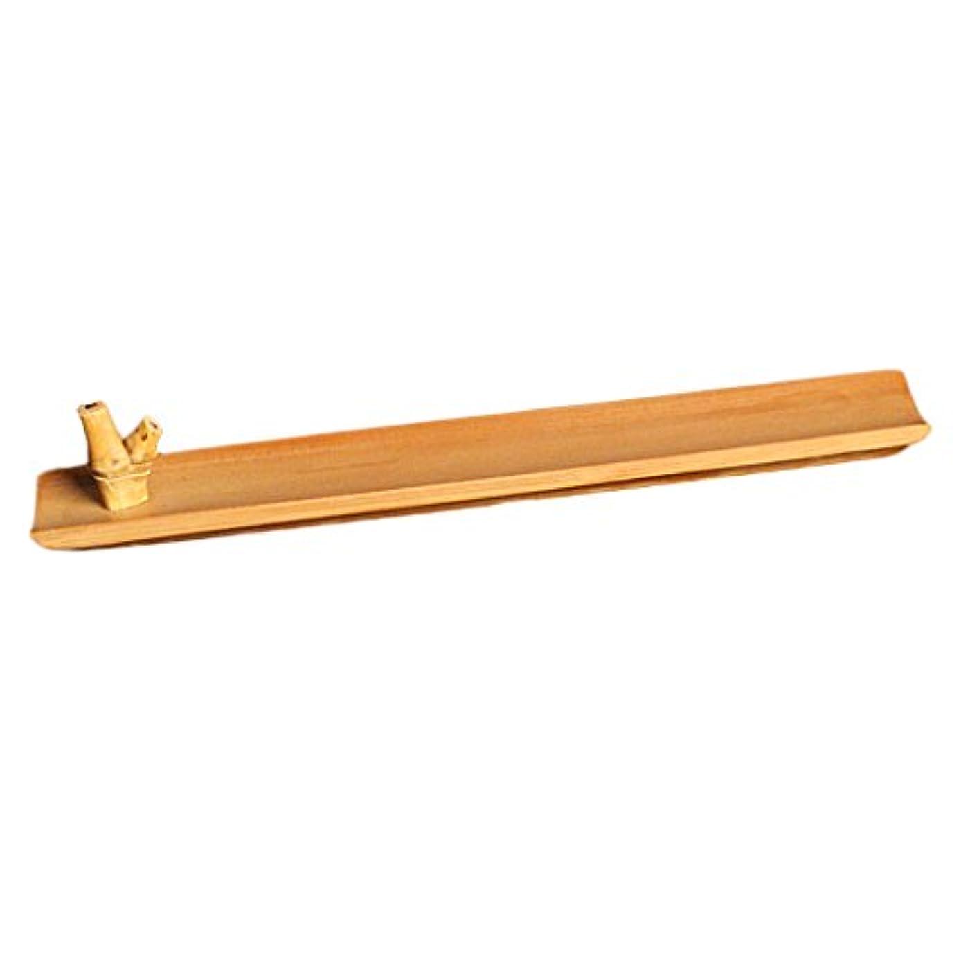 溝南東保険をかける竹 お香立て スティック 香 ホルダー バーナースティック ブラウン 手作り 工芸品 24センチメートル