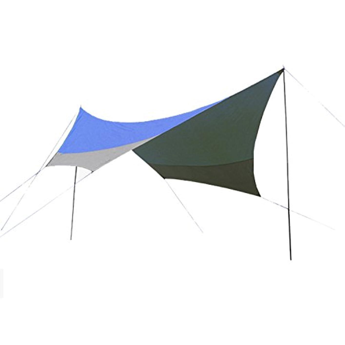 媒染剤電気技師ホーンヘキサ タープ 耐水 UVカット ペグ付き ポール付き 重量3kg 収納袋付き 全2色 [5~6人用] [並行輸入品]