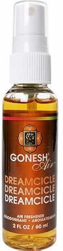 主排他的ごめんなさいGONESH(ガーネッシュ)スプレー エアフレッシュナー ドリームシクル 60ml(オレンジとバニラをミックスした香り)