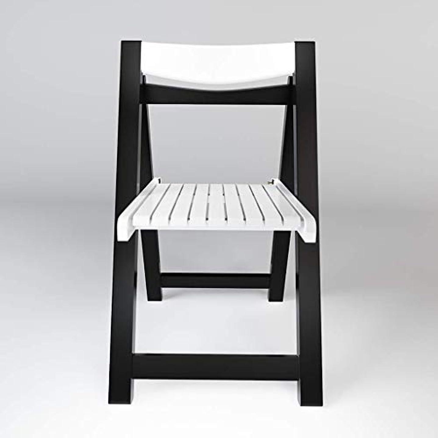カウント想定するインストラクター折りたたみ椅子ダイニングチェア黒と白シンプルなラウンジチェア性格折り畳み式