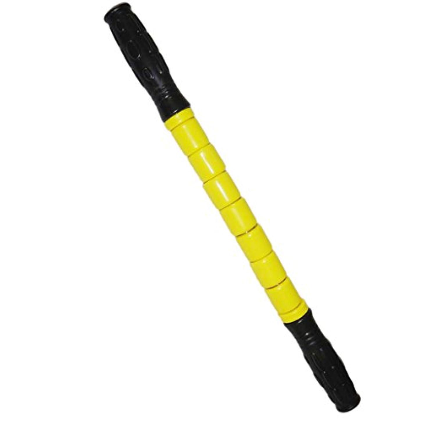 リズミカルな進むブロッサムスティック マッスル マッサージ ローラー 筋肉 グループ 痛み 疲れ 緩和 全3色 - 黄