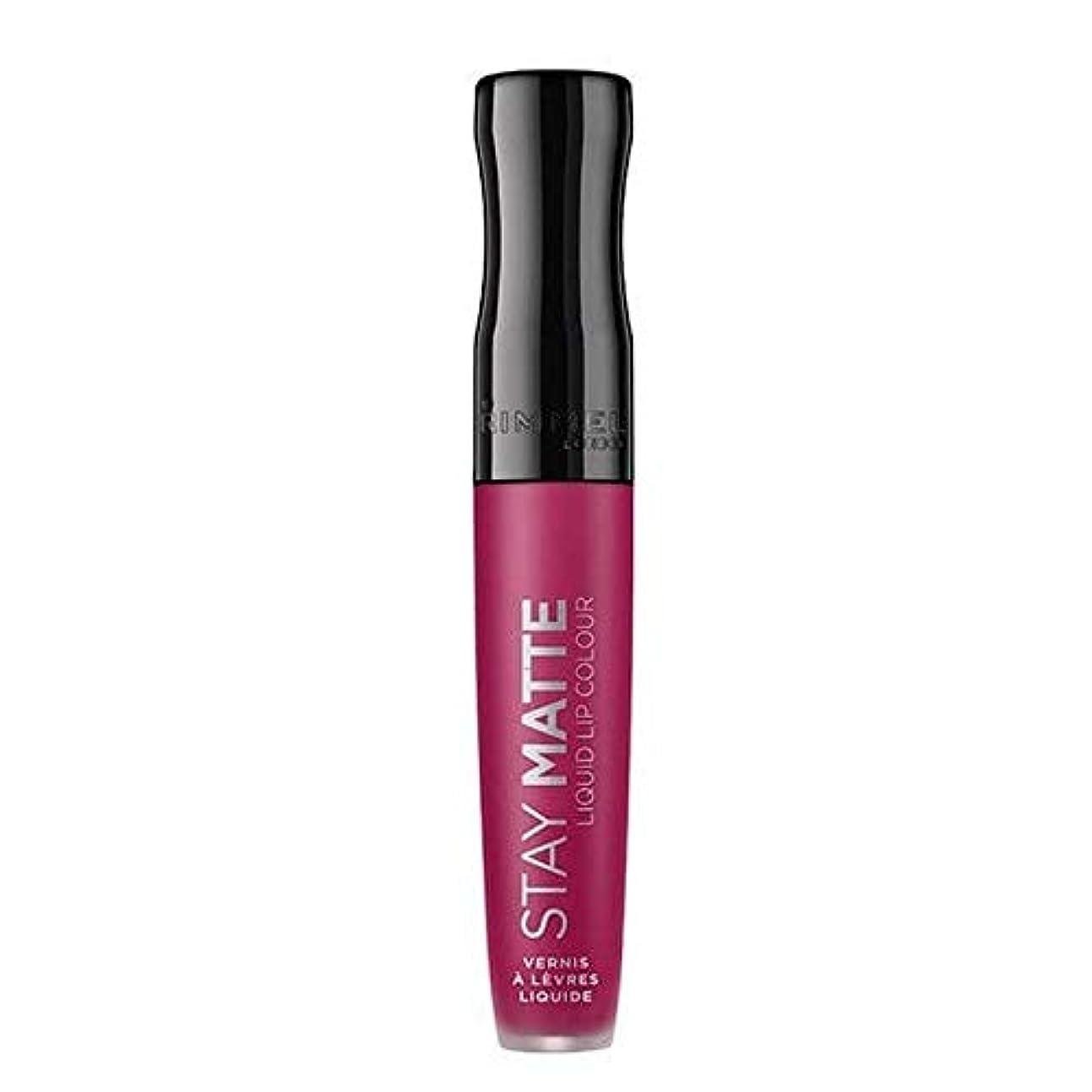 プラグあごスプレー[Rimmel ] リンメルステイマット液状口紅ハートビート820 - Rimmel Stay Matte Liquid Lipstick Heartbeat 820 [並行輸入品]