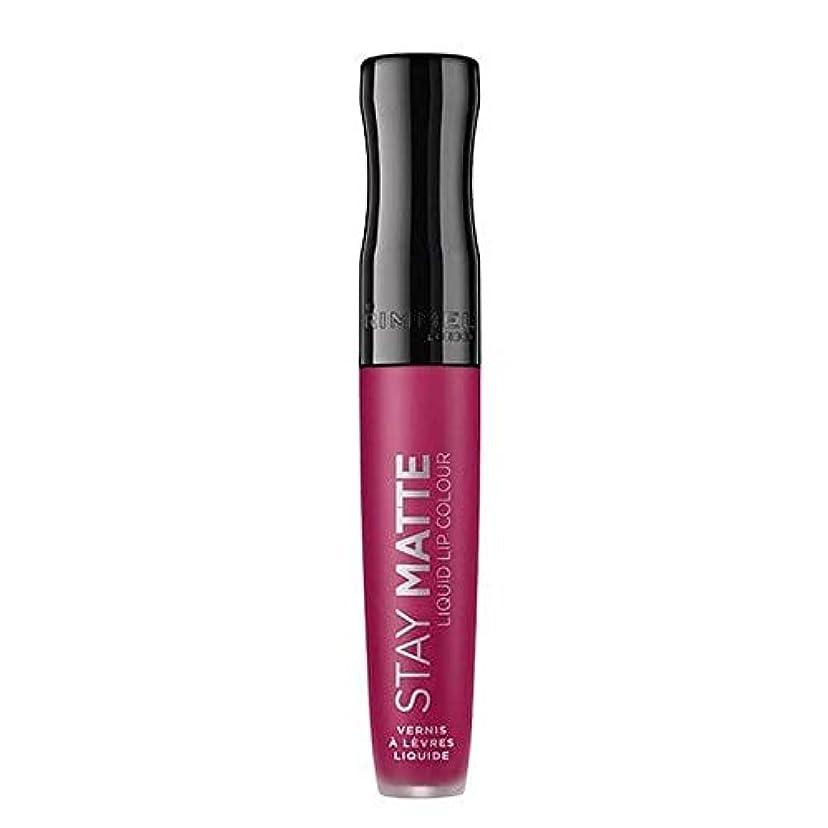 販売員芽エトナ山[Rimmel ] リンメルステイマット液状口紅ハートビート820 - Rimmel Stay Matte Liquid Lipstick Heartbeat 820 [並行輸入品]