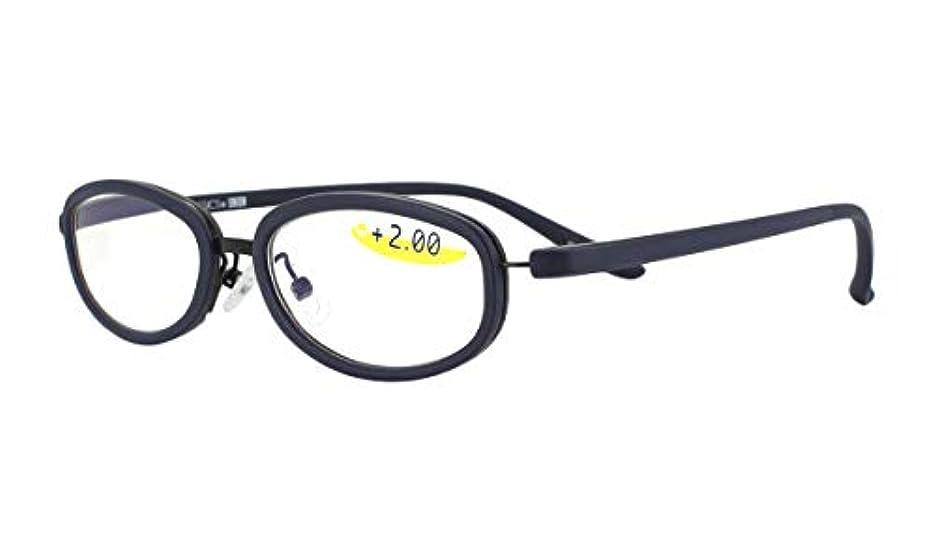 老眼鏡 シニアグラス NEO CLASSICS UNION GLR-43-6 +2.5 ネイビー&オレンジ