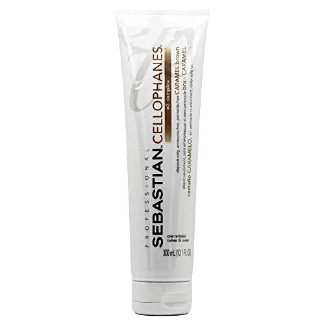海里副有毒Sebastion Cellophanes Hair Color セロファンCARAMEL BROWN、A3複合体とカラーリバイタライザー caramel brown - 10.1オンス/ 300ミリリットル