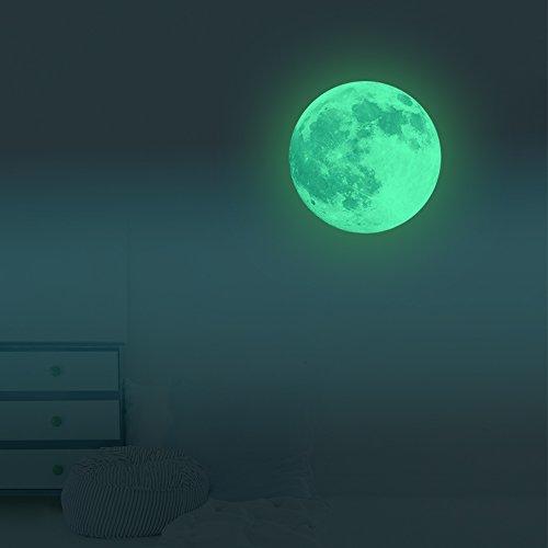 VANCORE 夜光 月 ウォールステッカー 蓄光 壁紙シー...