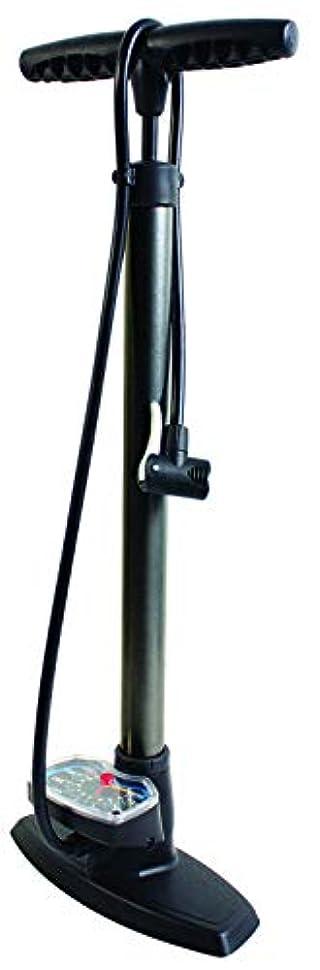迷信クラックアブストラクトSERFAS(サーファス) 自転車 高圧空気入れ エアフロアポンプ 仏式/米式/英式/ボール/ボートバルブアダプター エアゲージ ロードバイク MTB FP-35 ブラック 046704