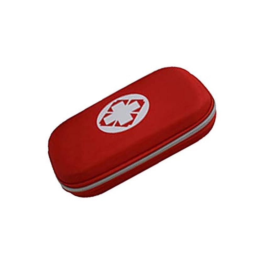 注ぎますフラスコ説教屋外の救急箱ホームオフィス車のキャンプの職場のための携帯用旅行救急箱,Blue