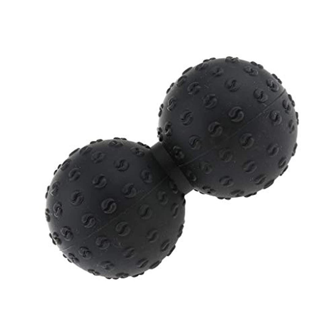 お願いします薬を飲む協力マッサージボール 指圧ボール シリコン ピーナッツ トリガーポイント 肩、足、腕など 解消 全6色 - ブラック, 説明のとおり
