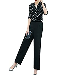 VITryst 女性のリラックスフィットVネックブラウスシャツ