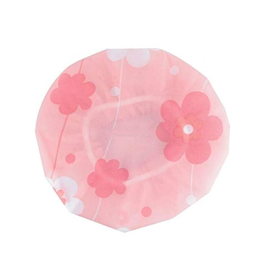 意識マーチャンダイザー教授LBLMS 防水およびアンチダスト、再利用可能なシャワーキャップ - キャップ、大人シャワーシャワー。 (Color : Pink)