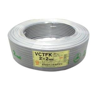 【富士電線】 ビニルキャブタイヤ長円形コード VCTFK2.0SQハイ*100m