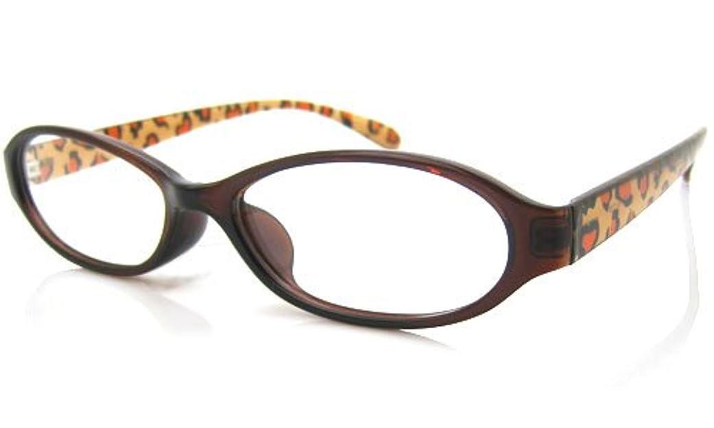 パソコン用老眼鏡(RSN) TRレパードパソコン中近両用メガネ[全額返金保証] (瞳孔間距離:66~68mm, 近用度数(書類):+2.0)