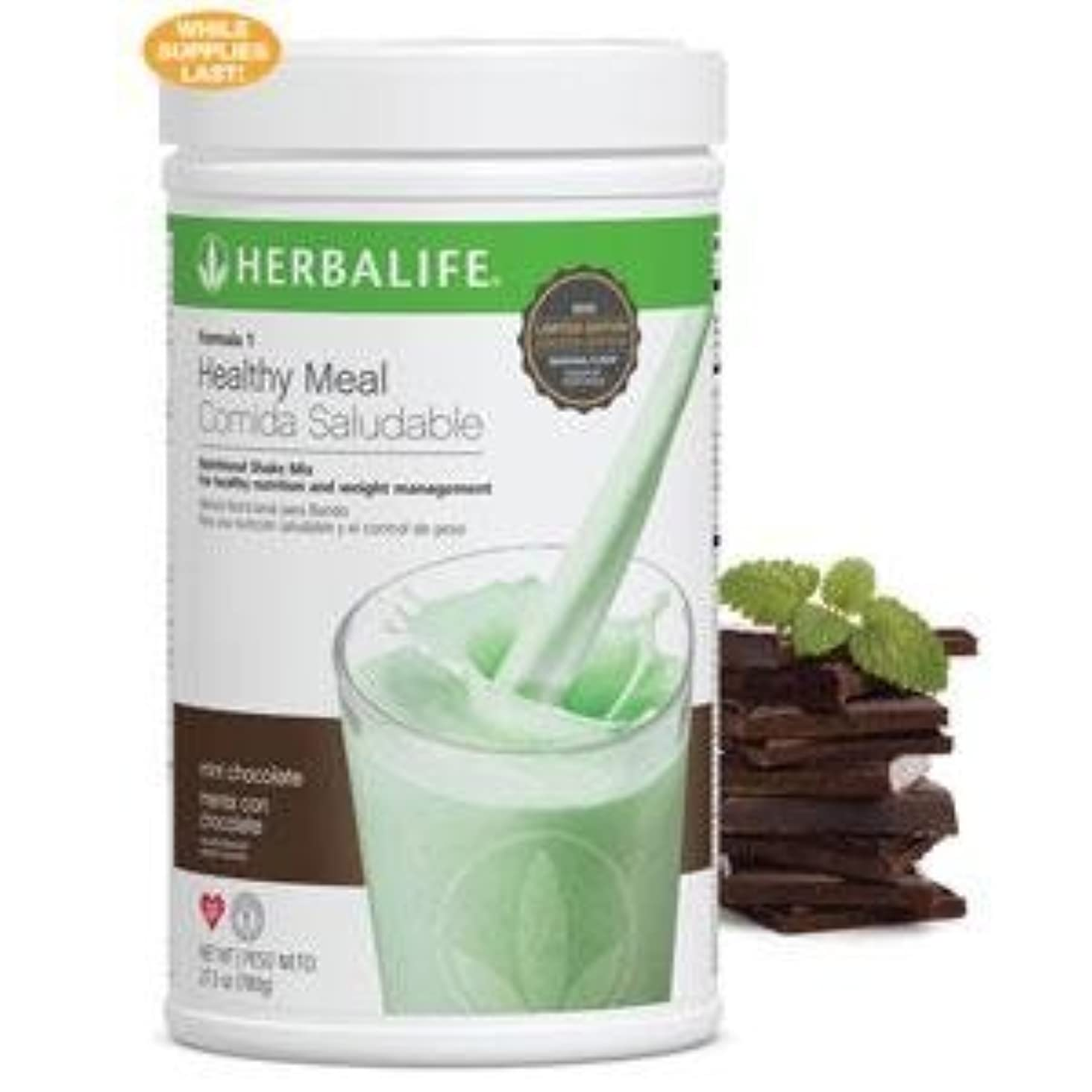 教育ペンバタフライHerbalife  フォーミュラ1ヘルシーミール栄養シェークミックス(ミントチョコレートチップス、780g / 27.5Oz)