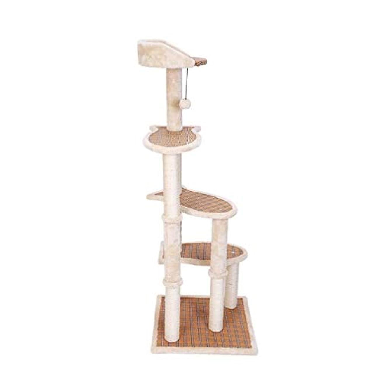 兵隊友情カバレッジ魚の形のプラットフォームキャットツリータワーマット?アパートおもちゃのボールサイザル列安定した耐摩耗性の強い運搬能力猫クライミングフレームをハンギング